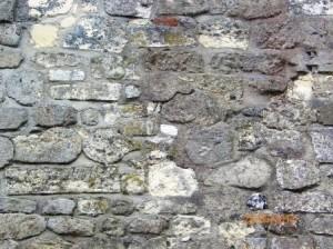 East wall, Bethell's servants house