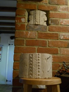 Romanesce billet mould stone reunited with its like from the Winchester City council Museum store.