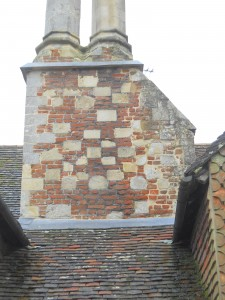 Main chimney showing variety of reused stones