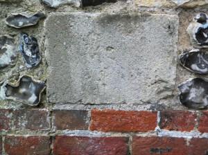 Finely carved axed finish ashlar stonework