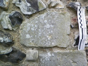 Corner stone featuring embedded shaft