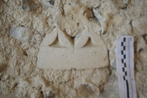 Voussoir with dog tooth moulding