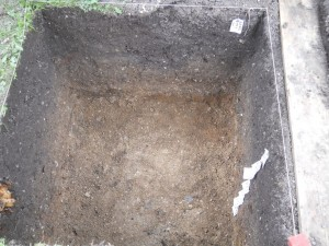 The west trench at the end of Day 2