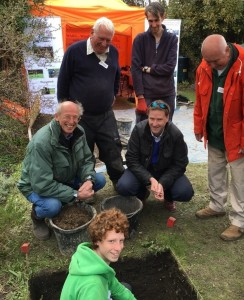 Event organiser David Spurling, Westgate pupil Ben Holliday in the pit, with Steve Brine, and WARG supervisors Techer Jones and Don Bryan looking on