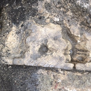 Intricately moulded stone find in Trench 7, 15 King Alfred Place
