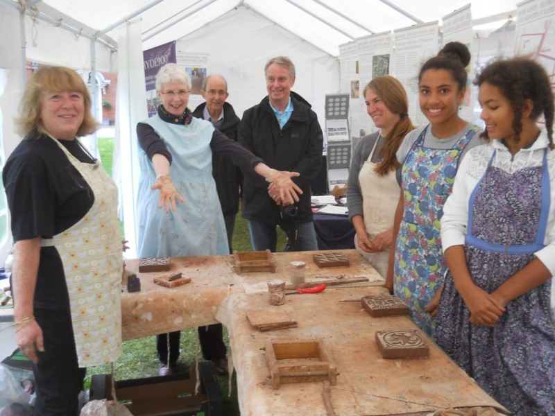 Rose Burns with four tile makers delighted with their work.